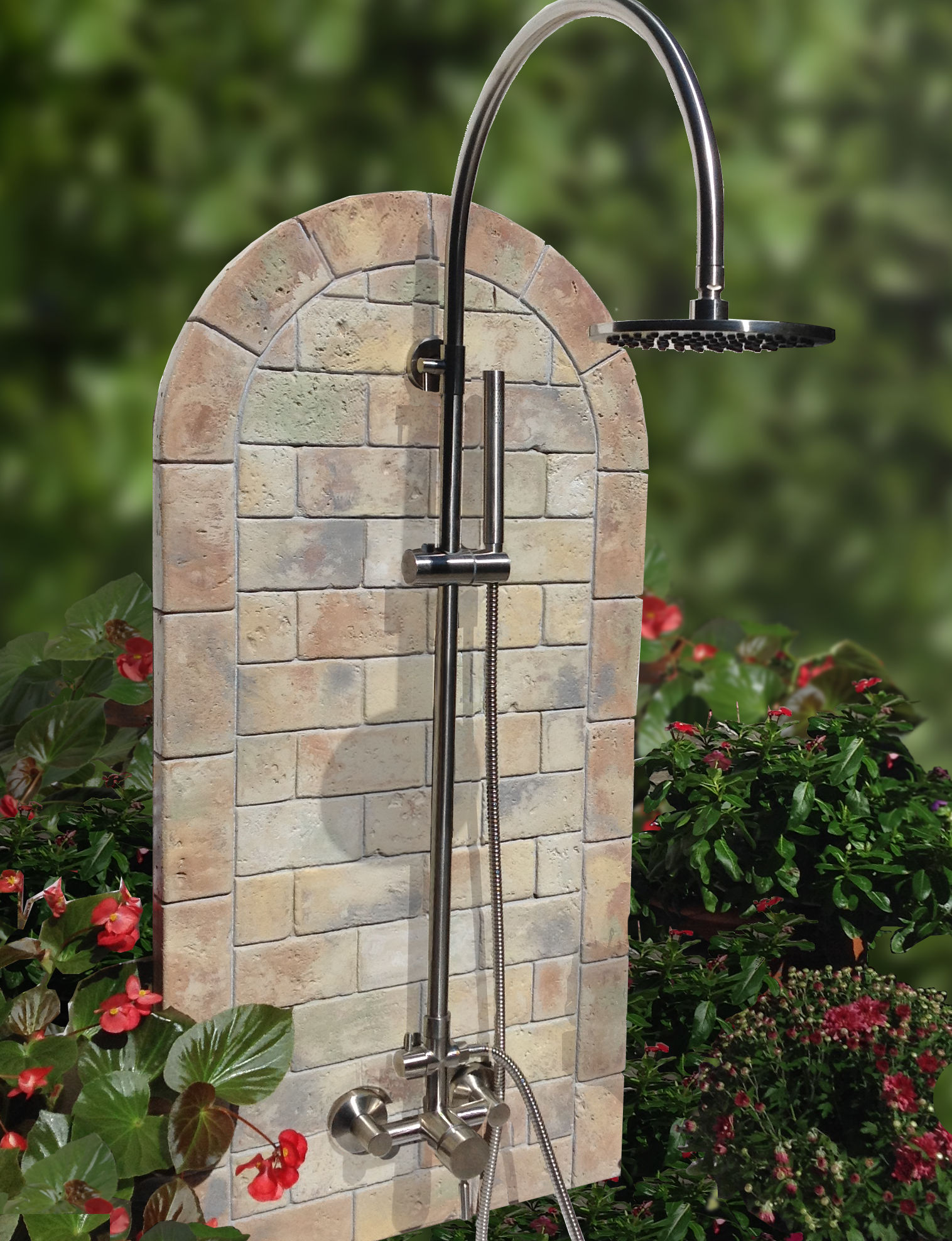 Oceanic Themed Outdoor Shower