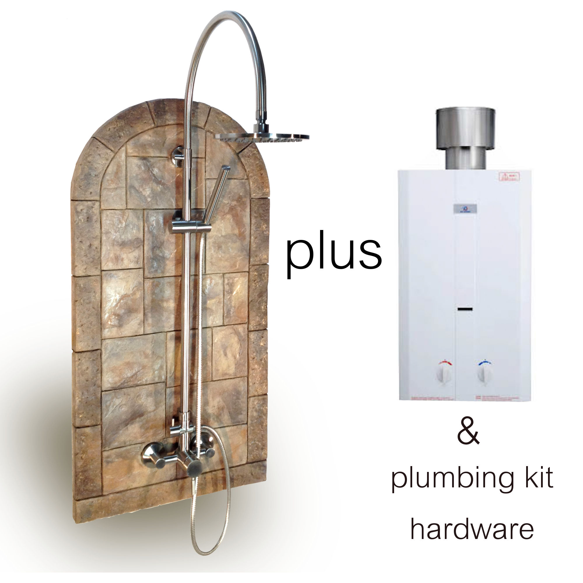 Water Heater Plus Cut Stone